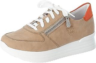 Rieker Damen Low-Top Sneaker N7301, Frauen Halbschuhe,Plateausohle,lose Einlage