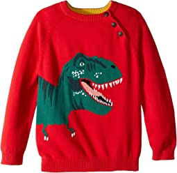Intarsia Dinosaur Sweater (Toddler/Little Kids)