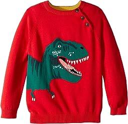 Intarsia Dinosaur Sweater (Toddler/Little Kids)