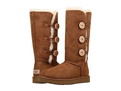 UGG Bailey Button Triplet II (Chestnut) Women