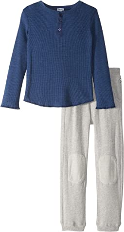 Henley Waffle Knit Set (Little Kids/Big Kids)
