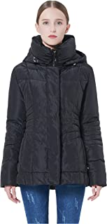 Women's Short Down Coat Winter Jacket with Removable Hood