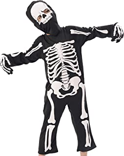 Kids Skeleton Costume, Halloween Scary Dress Up, Skull Outfit