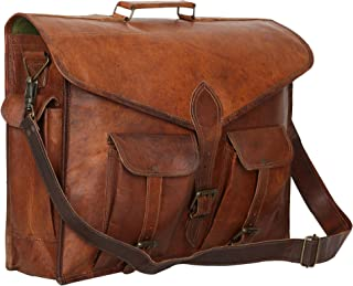 Habiller Unisex Handmade Genuine Leather Vintage Brown Laptop Backpack