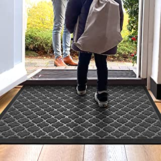 DEXI Door Mat Front Indoor Outdoor Doormat,Small Heavy Duty Rubber Outside Floor Rug for Entryway Patio Waterproof Low-Pro...