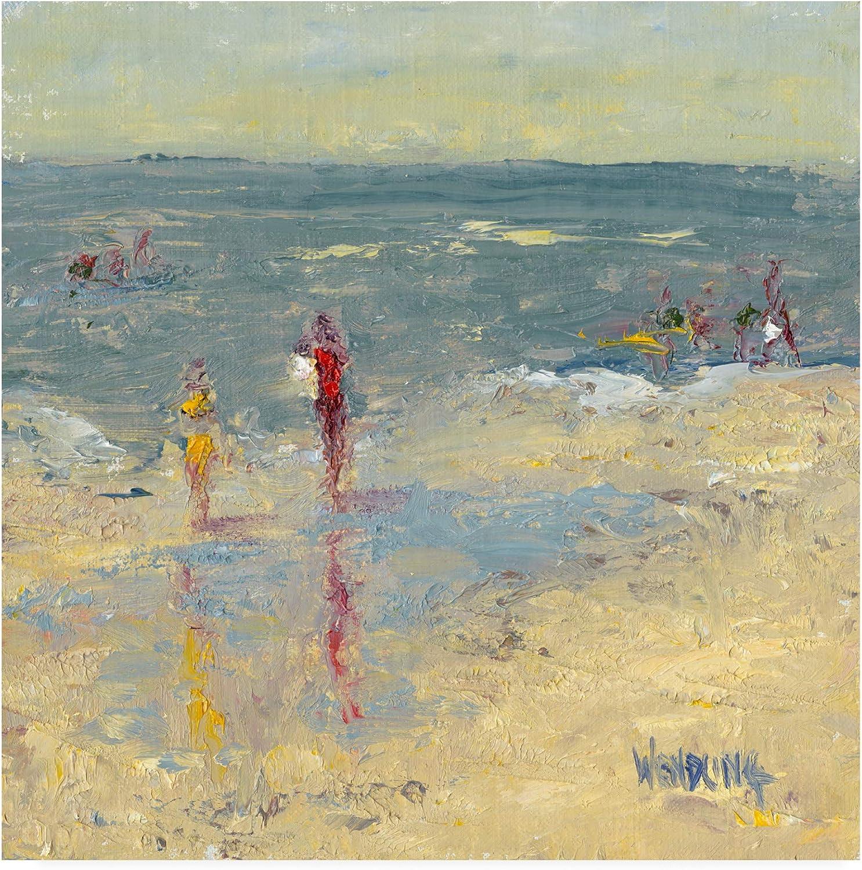 Trademark Fine Art Impasto Beach Day I by Marilyn Wendling, 14x14