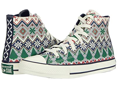 Converse Kids Chuck Taylor(r) All Star(r) Christmas Sweater Hi (Little Kid/Big Kid) (Ash Stone/Egret/Obsidian) Kids Shoes