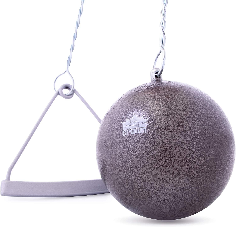 Crown Sporting Goods 鋳鉄ハンマー&ワイヤー 7.26kg (16ポンド) | 陸上競技/練習/トレーニング | イントラミュラル/大学/高校競技品質 | ワイヤーとハンドル付き