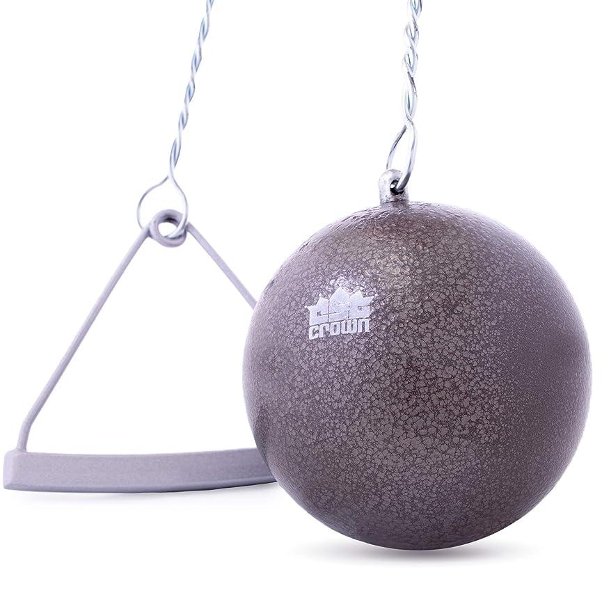 看板規制するコックCrown Sporting Goods 鋳鉄ハンマー&ワイヤー 7.26kg (16ポンド) | 陸上競技/練習/トレーニング | イントラミュラル/大学/高校競技品質 | ワイヤーとハンドル付き