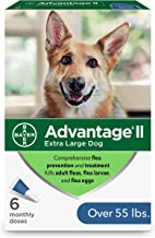 Advantage II Flea and Lice Treatment for X-Large Dogs, Over 55 lbs