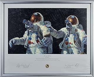 Alan Bean & Charles Conrad Apollo 12 Signed & Framed Art Print LE #145/850 BAS