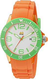 40Nine Unisex 40NINE03/ORG1 Medium Watch with Silicone Band
