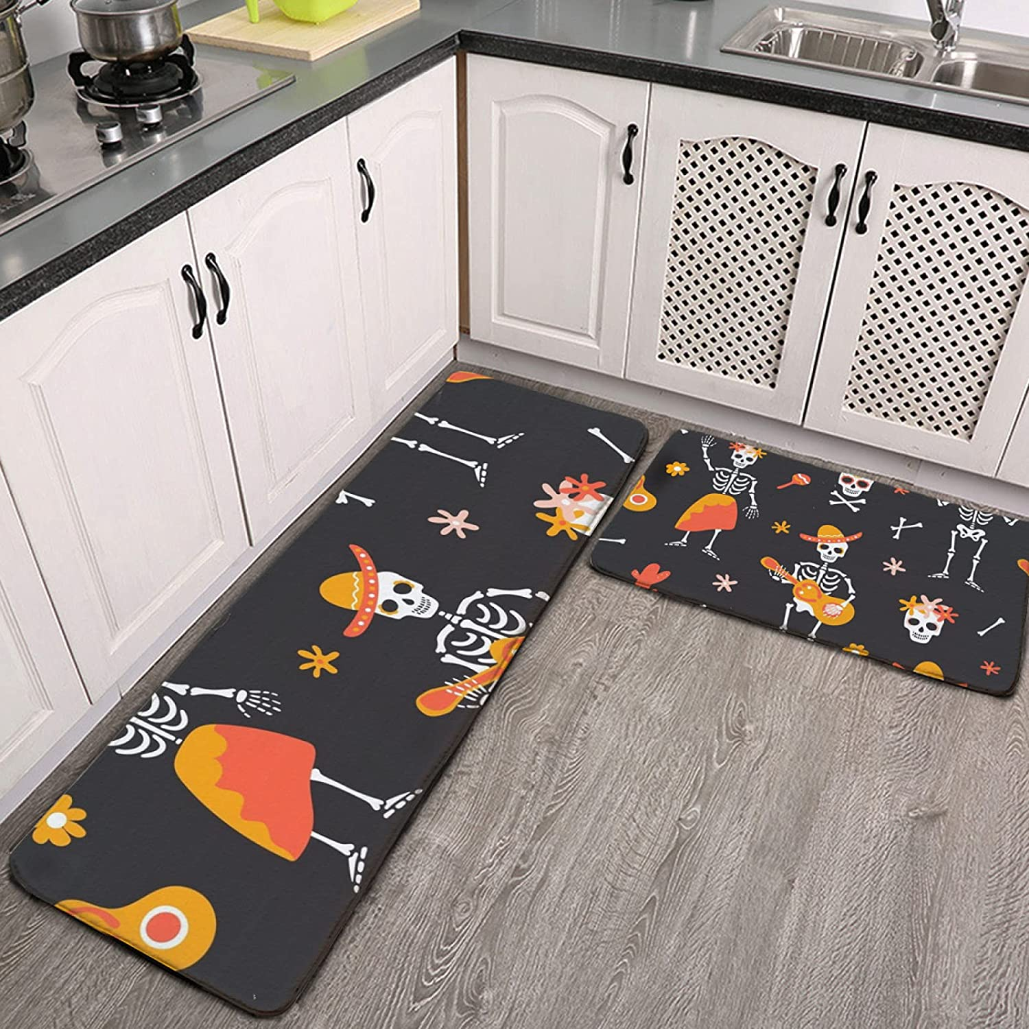 OcuteO Clearance SALE! Limited time! Kitchen Limited Special Price Rugs and Mats Set 2 Day Mexican Of Dead Piece The