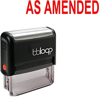 'AS Amended' Office Stamp, Rubber & Self-Inking by bbloop