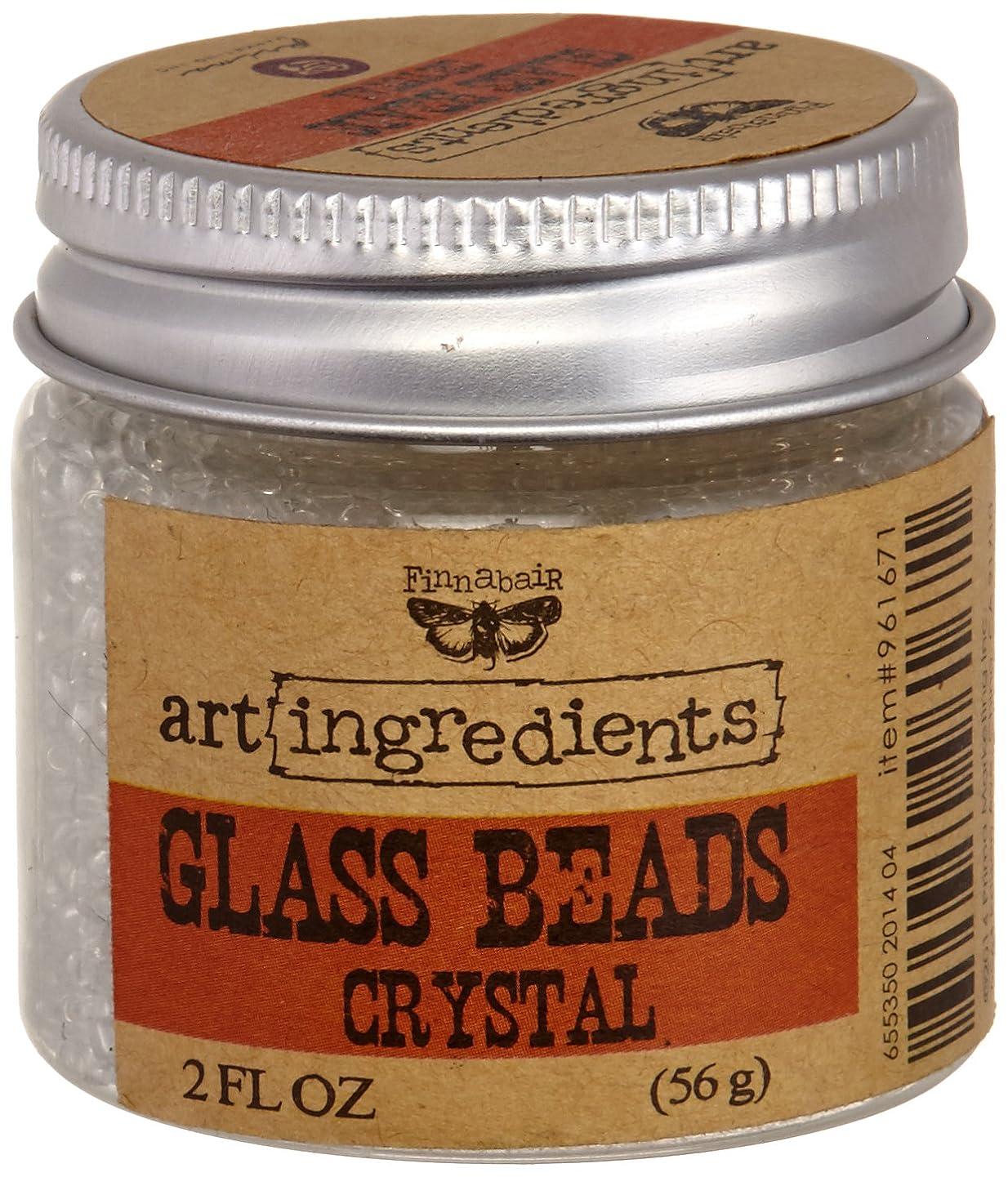 Creative Converting AIB-61671 Finnabair Art Ingredients Glass Beads, 2 oz, Crystal