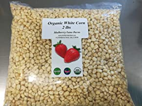 Whole Kernel White Corn 2 Pounds Dried, USDA Certified Organic, Non-GMO, Bulk