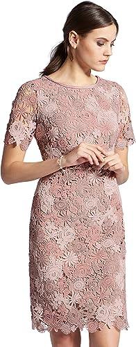 Uta Raasch Damen Spitzen-Kleid mit 1 2-Arm Rei verschluss