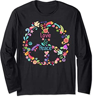 PEACE SIGN LOVE T Shirt 60s 70s Tie Die Hippie Holiday Shirt