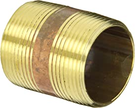 Anderson Metals 38300 Lead Free Red Brass Pipe Fitting, Nipple, 1-1/4