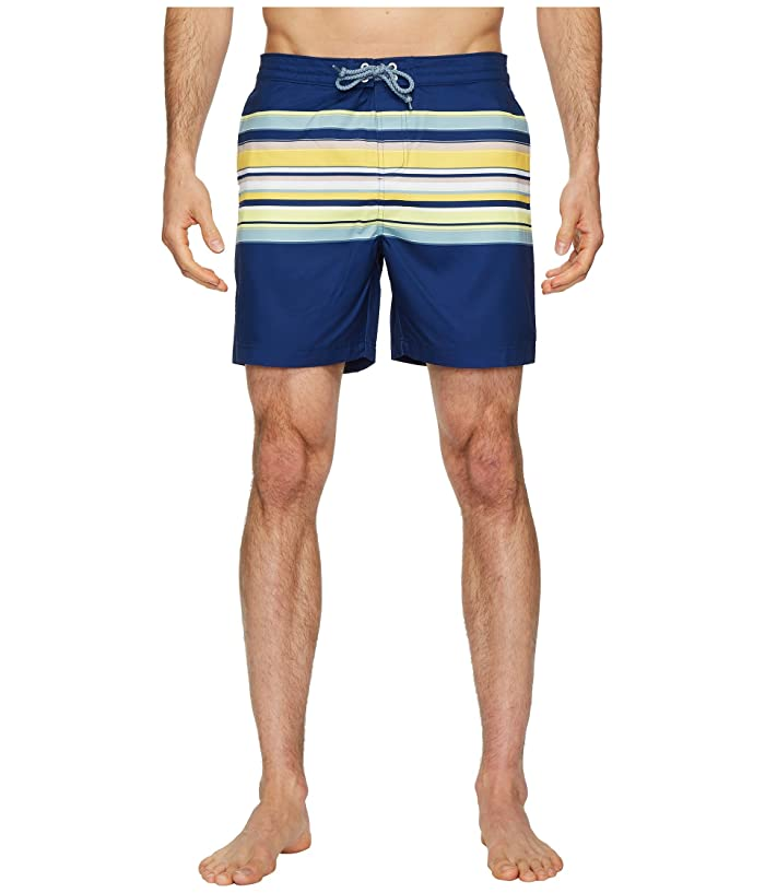 4491ebfde2 Original Penguin Engineered Stripe Fixed Volley Stretch Swim Shorts ...