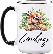 Sloth Mug – Personalized 15 or 11 oz Large Ceramic Mugs – Sloth Coffee Mugs – Sloth Gifts for Women – Cute Animal Mugs – Sloth Cup – Dishwasher & Microwave Safe