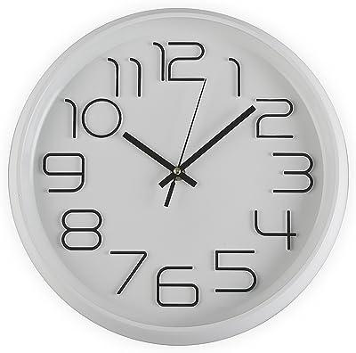 salle de classe Noir//or rose chambre /à coucher Taodyans Horloge murale silencieuse /à quartz 12 pouces Fonctionne avec piles Horloge de d/écoration moderne pour bureau salon