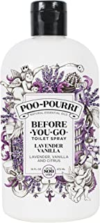 Poo-Pourri Before-You-Go Toilet Spray Refill(Sprayer not included) Lavender Vanilla Scent, 16 oz