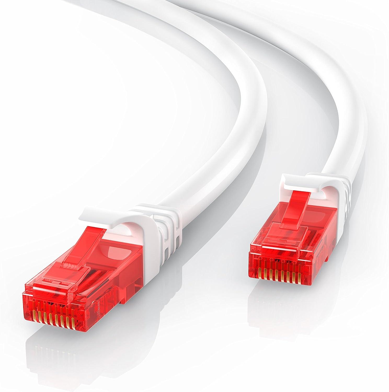 CSL - 30m Cable de Red Gigabit Ethernet LAN Cat.6 RJ45-10 100 1000Mbit s - Cable de conexión a Red - UTP - Compatible con Cat.5 Cat.5e Cat.7