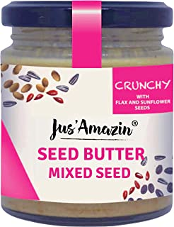 JUS' AMAZIN Natural Plant-Based Protein Multi Seed Butter (200 g)