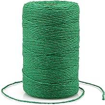 200M groene touw, ambachtelijke katoenen draad duurzaam touw perfect voor bakken, slagers, doe-het-zelf ambachten en handg...