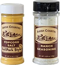 product image for Amish Country Popcorn | Seasoning Variety Pack | BallPark Style ButterSalt - 6 oz and Ranch - 5.5 oz Popcorn Seasoning | Old Fashioned with Recipe Guide