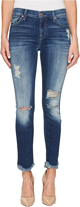 7 For All Mankind - Ankle Skinny w/ Destroy & Scallop Hem in Liberty 3