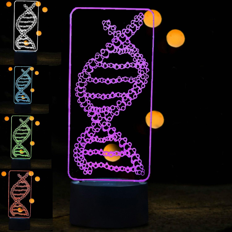 3D Abstract DNA LED Night Light Change La Table Desk 7 supreme Genuine Color
