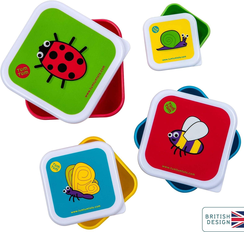 Tum Tum Fiambreras para Niños Anidables – Fiambrera Infantil sin BPA – Bichos