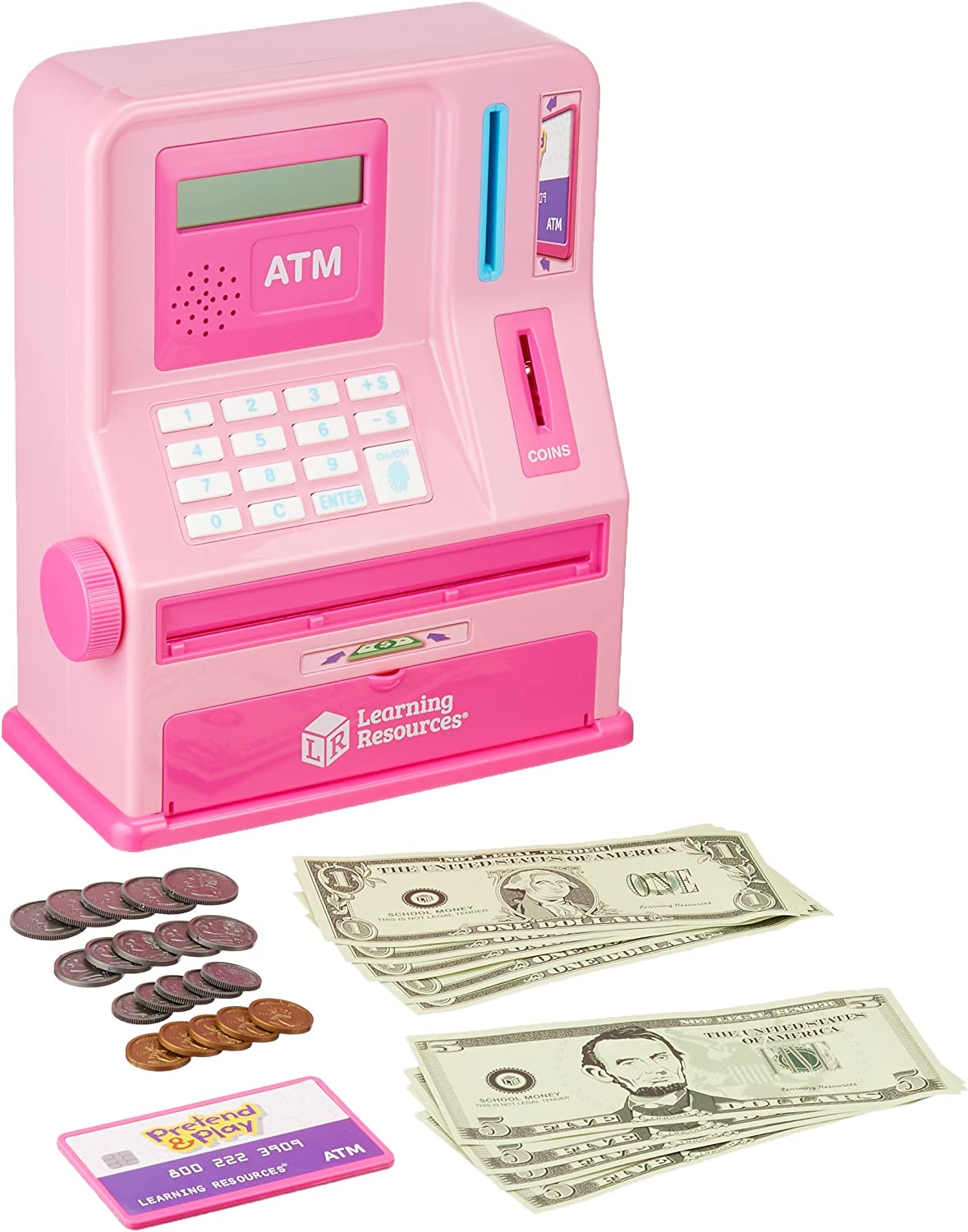 Learning Resources Teaching ATM 32 At the price Pieces Pink Colorado Springs Mall Bank