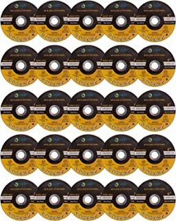 "SATC 25 PCS Cut Off Wheels 6 Inch Aluminum Grinding Wheel 6""x.040""x7/8"" Fits Angle Grinder Concrete Accessories Cutting Wheel Saw Grinder Metal Cut Tools with Aluminum Cutting Discs Grinder Attachment"