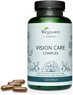 Integratore OCCHI Vegavero®   con Luteina, Zeaxantina, Mirtillo Nero, Betacarotene (Vitamina A), Riboflavina e Zinco   Sal...