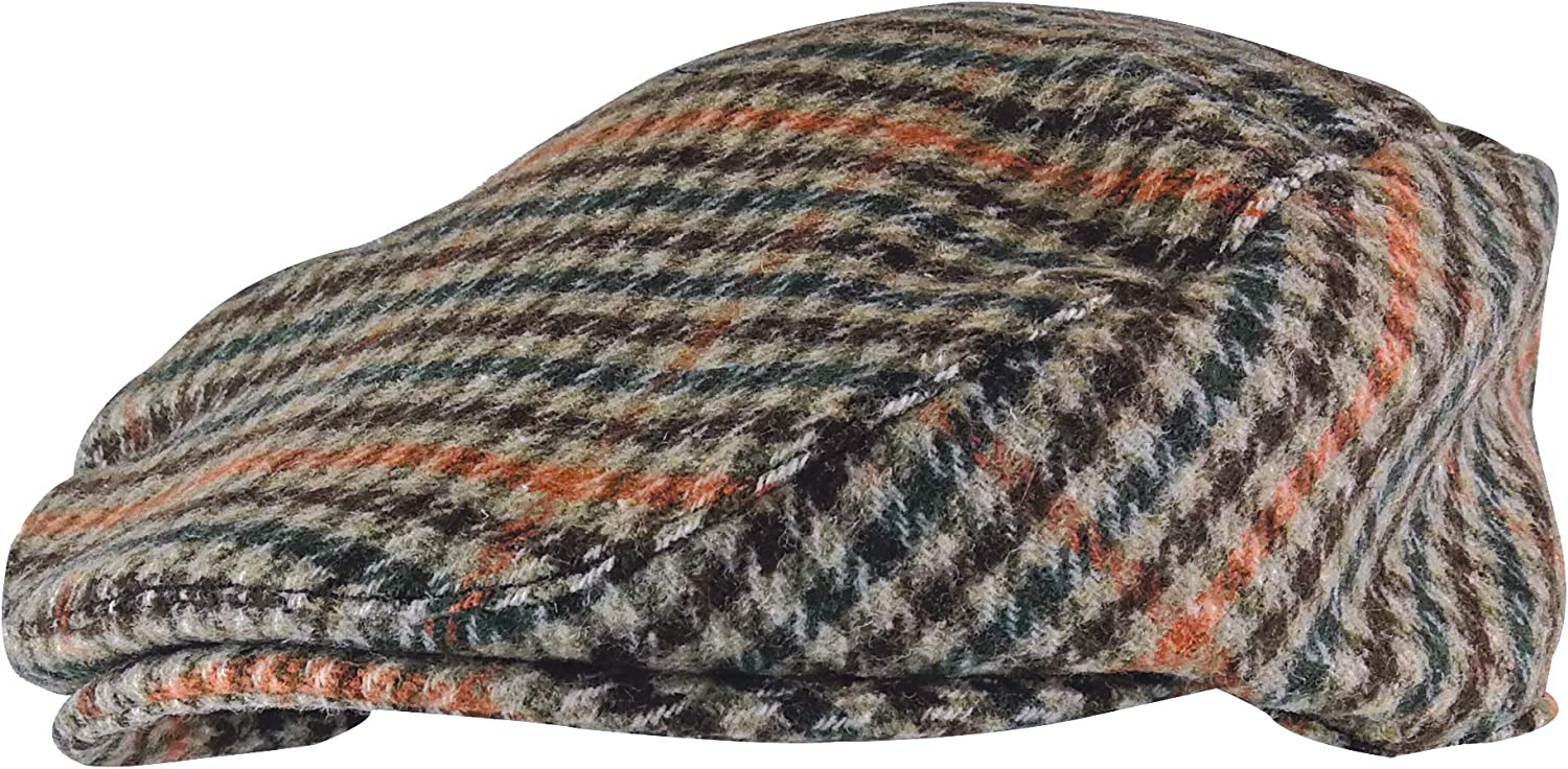 Mens Vintage Houndstooth Plaid Wool Newsboy Flat Blend Iv Outlet ☆ Free Shipping Time sale Winter