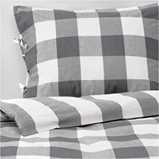Ikea Emmie Ruta King Duvet Cover and Pillowcases Green White 504.002.13