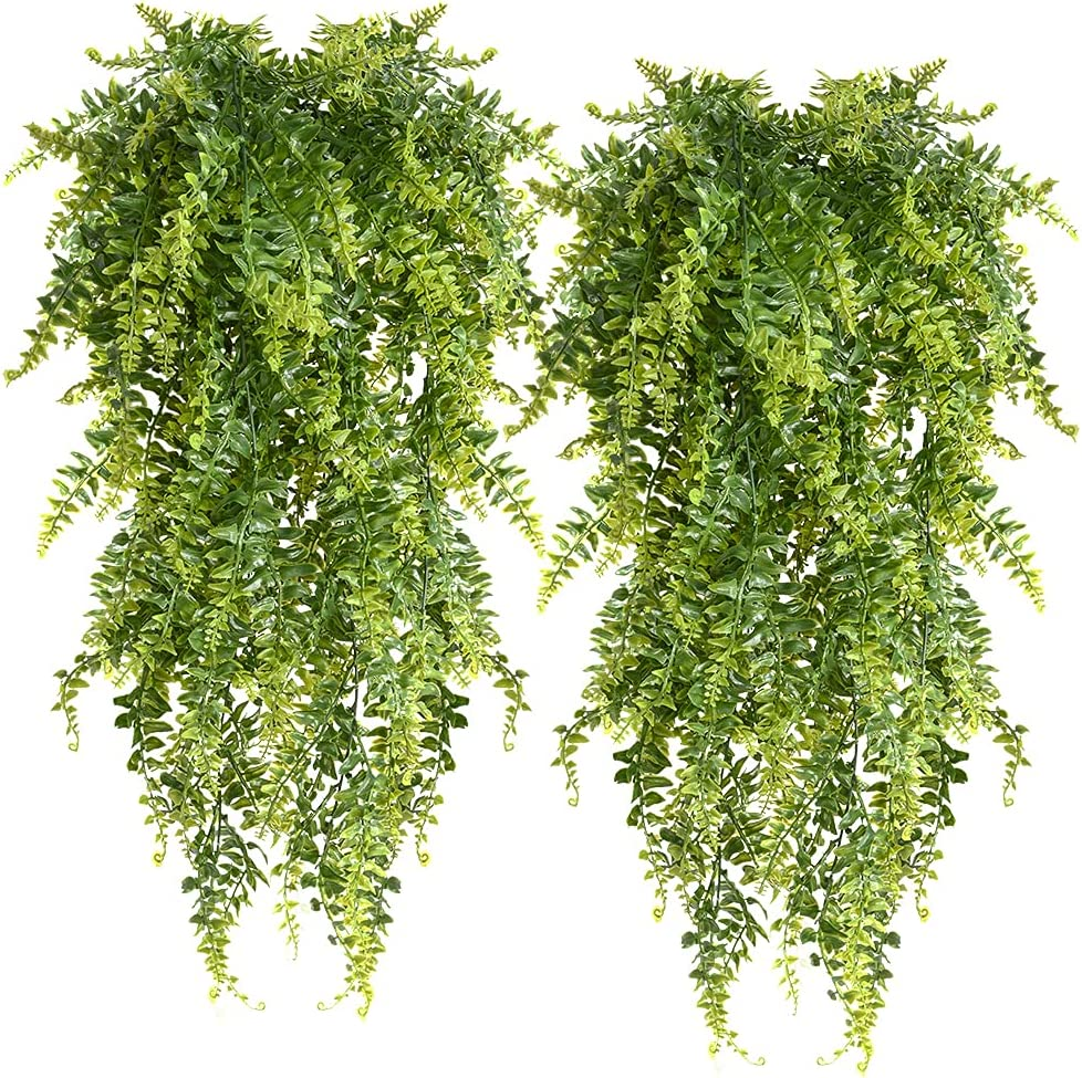 Hanging Outlet sale feature Ferns Artificial Plants Vine Boston Fern Cheap Fake Ivy Hangin