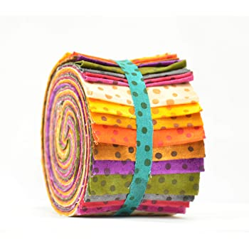 2.5 W x 45 L Craft 100/% Cotton Multicolour Age of Elegance Design Jelly Rolls Fabric for Quilting Patchwork Pack of 40 Strips