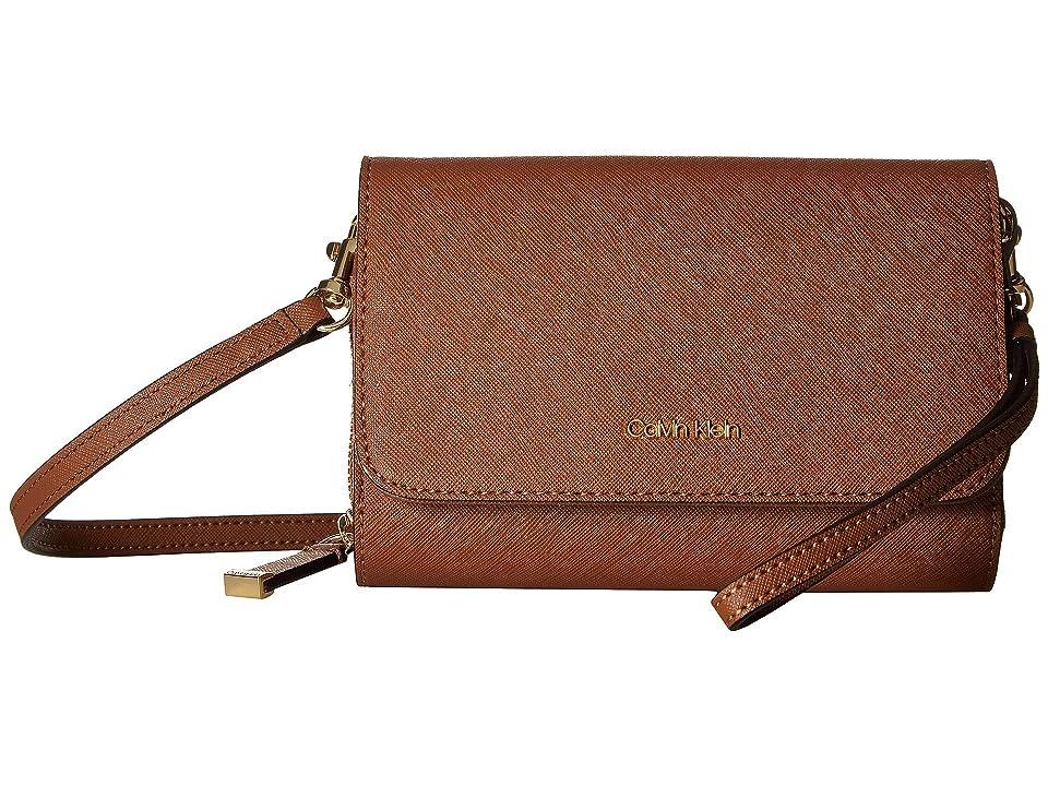Calvin Klein Saffiano Leather Wristlet/Wallet (Luggage) Handbags