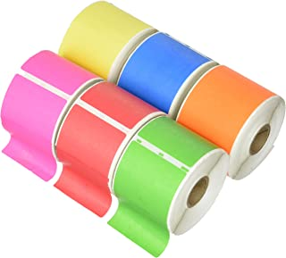 6 Rolls 2.312x4 Color Dymo Compatible 30256 Shipping Labels