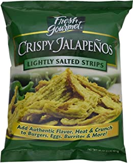 Fresh gourmet Crispy Jalapenos, Lightly Salted, 16 ounce