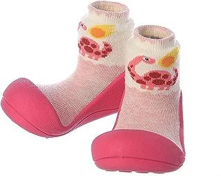 Attipas Dinosaur Baby Walker Shoes, Fuchsia, Medium