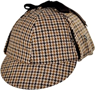 Jaxon Sherlock Holmes Houndstooth Deerstalker Hat