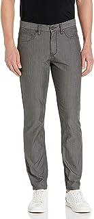 Perry Ellis Men's Very Slim Fit Light Grey 5-Pocket Stretch Denim Jeans