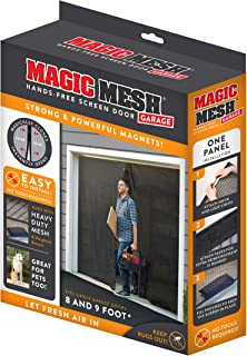 Magic Mesh Garage- Hands Free Magnetic Screen Door, Fits Single Garage Doors- 8 & 9 Foot
