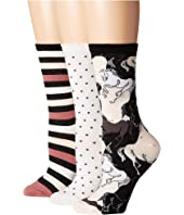 Kate Spade New York - Stallion 3-Pack Trouser Socks