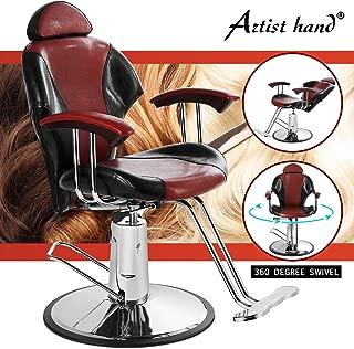 Artist Hand Reclining Barber Chair All Purpose Salon Chair for Hair Stylist Tattoo Chair Makeup Chair Salon Equipment